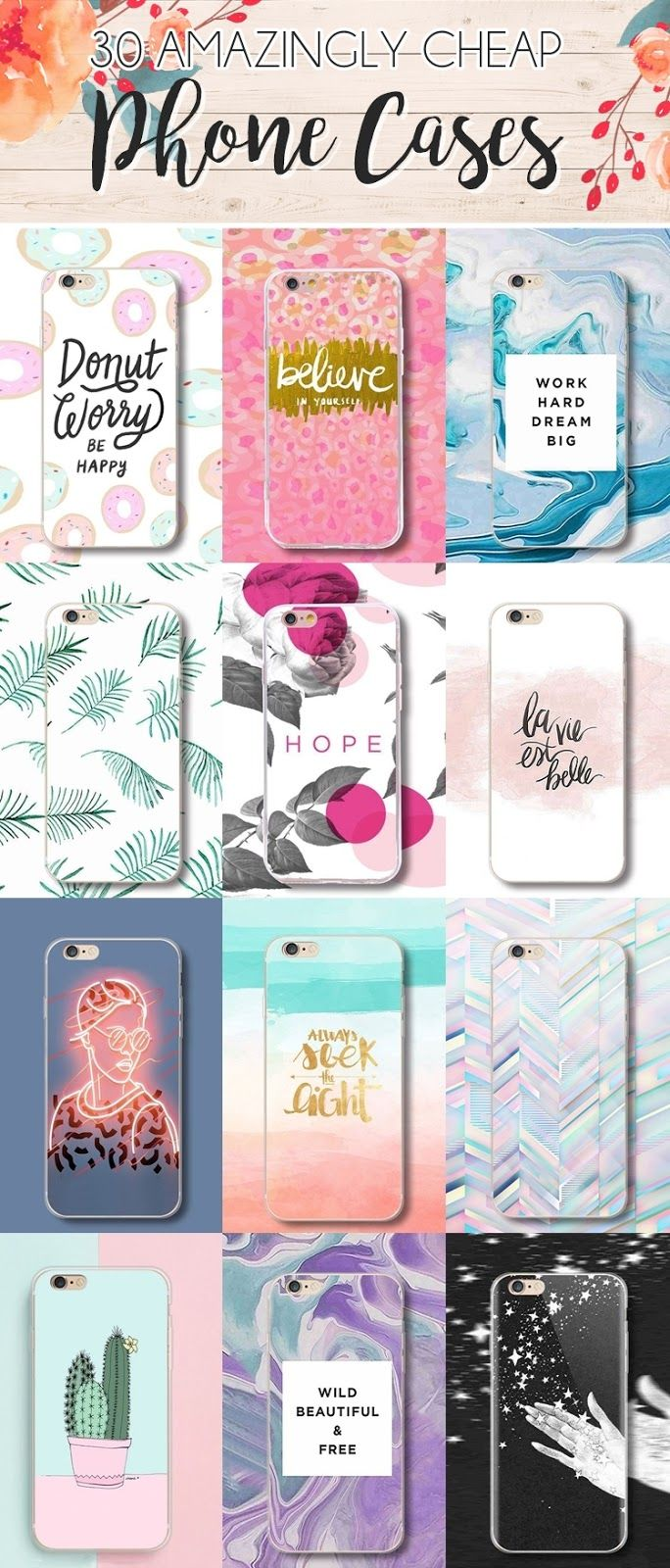 Check out these amazing phone cases. So cheap and on trend!