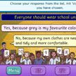 SMART BOARD - Enjoy this fun debate game for kids. Take part in an interactive debate against an opponent arguing from the opposite point of view on a range of interesting topics. Listen to what they have to say before choosing your response from a list of possible alternatives. The judges will then vote on who they thought had they best argument, try hard and see if you can get the crowd on your side and win the debate. Have fun learning about debating and arguments with this great online…