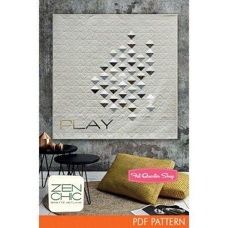 Play Downloadable PDF Quilt Pattern Zen Chic | Fat Quarter Shop