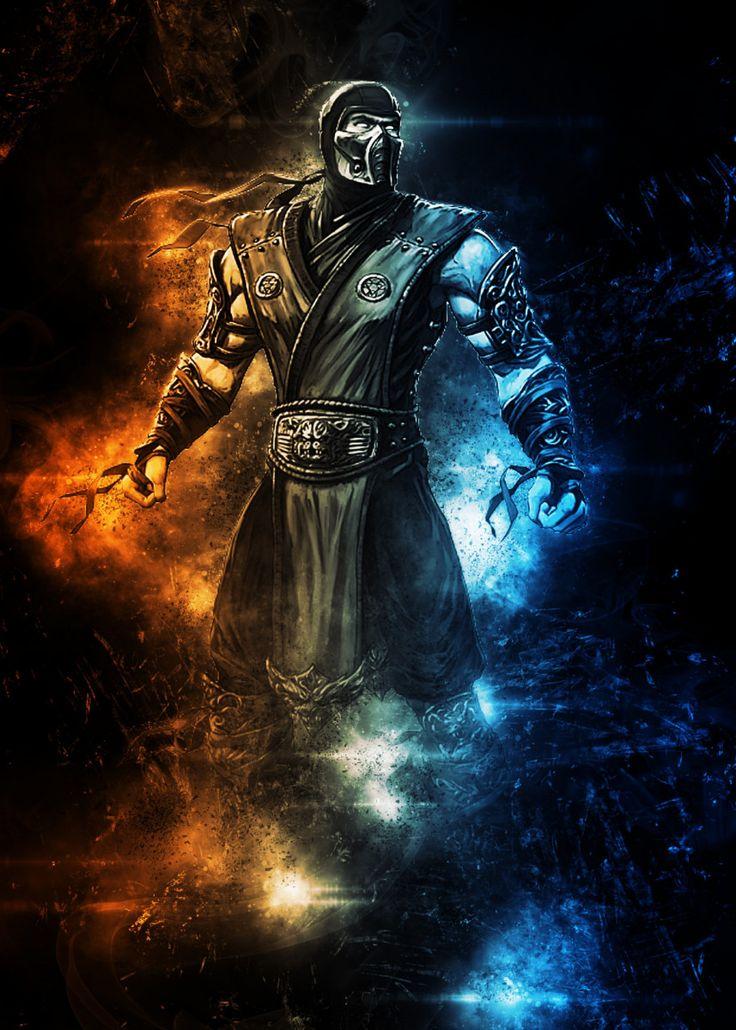 Sub zero Mortal Kombat Anime & Manga Poster Print   metal ...