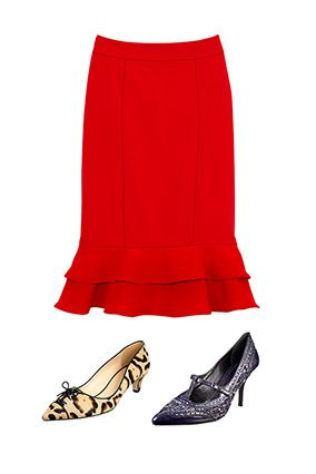 7 New Fall Skirts (Plus the Perfect Shoes to Pair Them With)    Read more: http://www.oprah.com/style/New-Skirts-for-Fall-2012-Shoes-to-Wear-with-Skirts/3#ixzz2AFSSsU6v