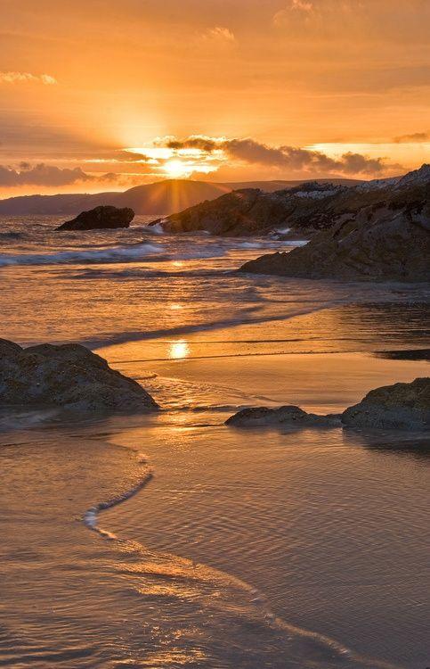 Whitsands Golden Evening