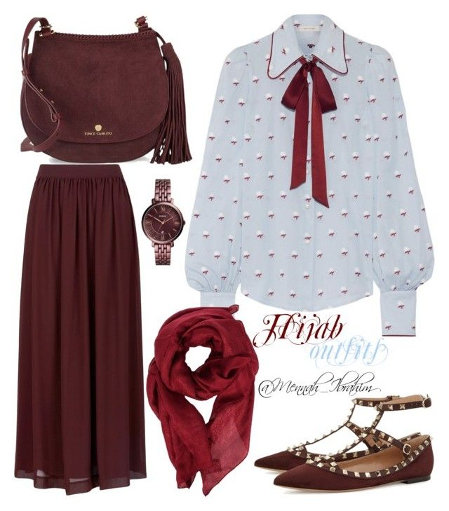 """""""#Hijab_outfits"""" by mennah-ibrahim on Polyvore featuring Hobbs, Marc Jacobs, Gucci, Valentino, Vince Camuto and FOSSIL"""