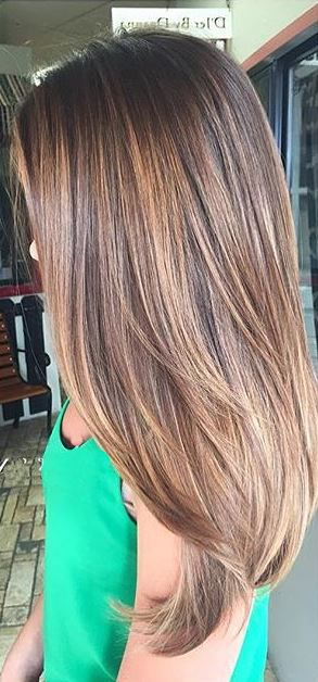 brunette balayage highlights