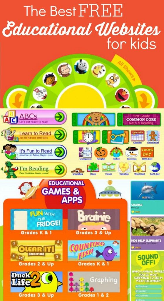 The Best Free Educational Websites for Kids - Everything from ABCs to Counting, Reading, Math and Geography! So many great resources and all FREE!