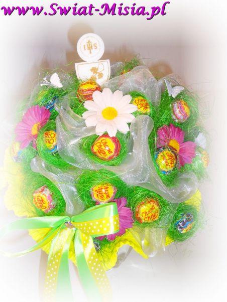 Słodki bukiet z lizaków  - Świat Misia