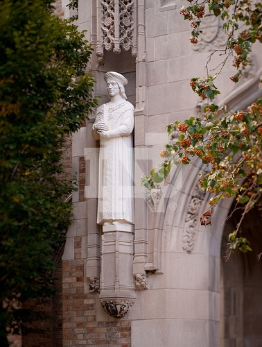 St. Thomas More on Bolchini Hall, Notre Dame Law School. Like the Irish?  Be…