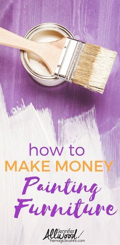 How to make money painting furniture and flipping used furniture. This business training will help you grow your furniture business and increase profits. More painting tips and creative business training webinars at theMagicBrushinc.com