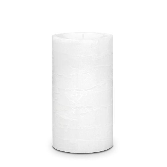 Tuoksuton valkoinen 7x12 cm GloLite Pilarikynttilä