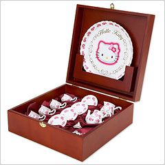 Hello Kitty tea set.