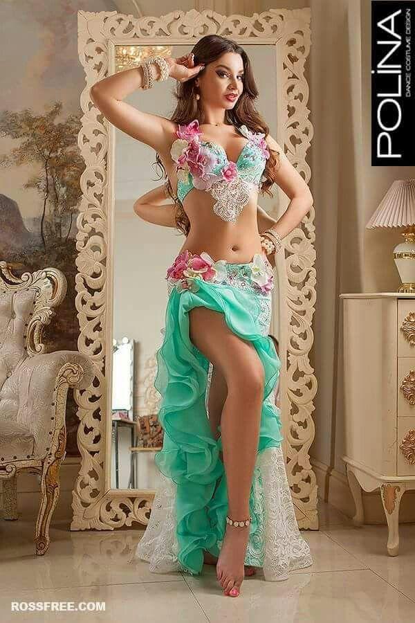 Traje verde Danza Arabe