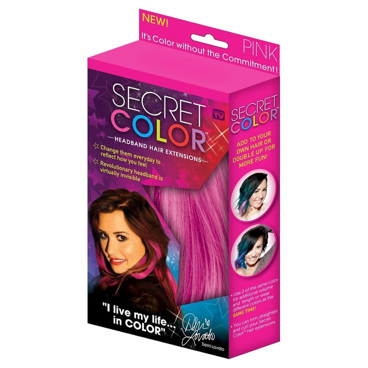 Secret Color Headband Hair Extensions - Pink, Women's