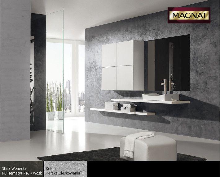 Efekt betonu w łazience