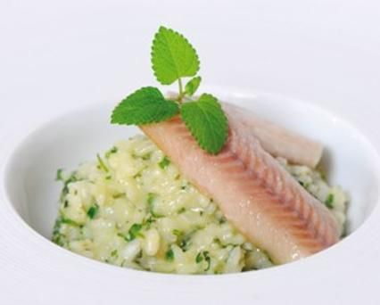 Barley Risotto with Smoked Salmon and Spring Vegetables Recipe -