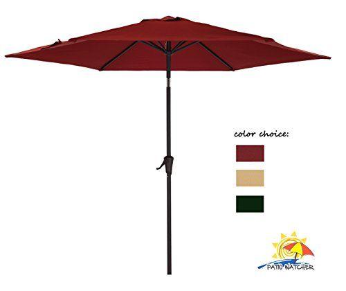 Patio Watcher Outdoor Market Patio Umbrella 9 Ft Table Umbrella with Push Button Tilt and CrankRed For Sale https://patioumbrellasusa.info/patio-watcher-outdoor-market-patio-umbrella-9-ft-table-umbrella-with-push-button-tilt-and-crankred-for-sale/