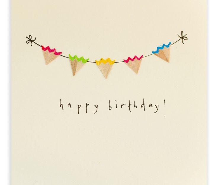 Pencil Shavings Cards – Birthday Bunting
