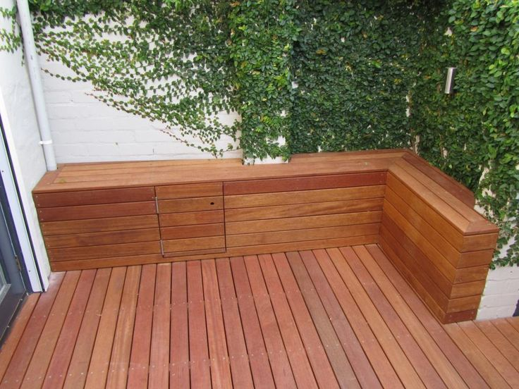 Decking bench seat / storage