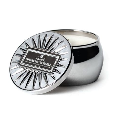 Voluspa - Branche Vermeil - Silver Mini Tin Candle