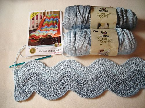 Ravelry: Project Gallery for Simple Ripple Baby Afghan pattern by Lion Brand Yarn