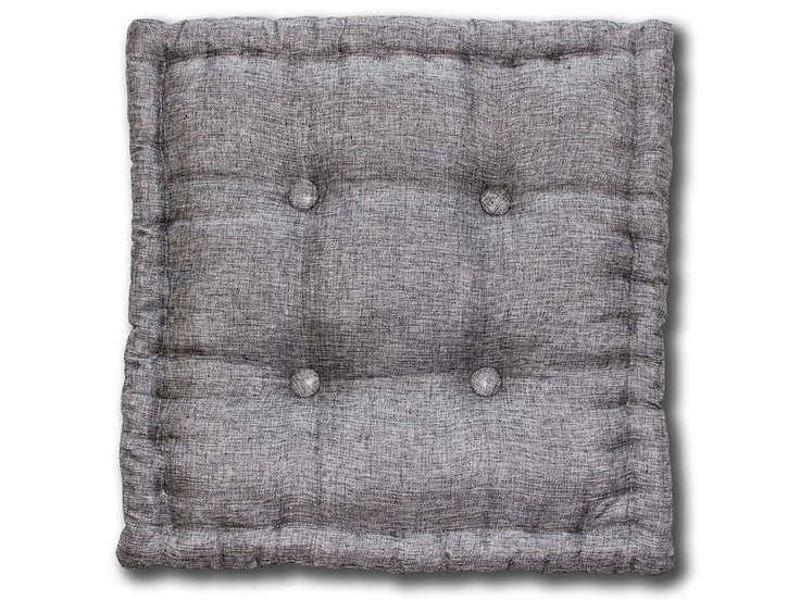 Coussin de sol 50X50 cm SHINE coloris gris - Vente de Pouf - Conforama