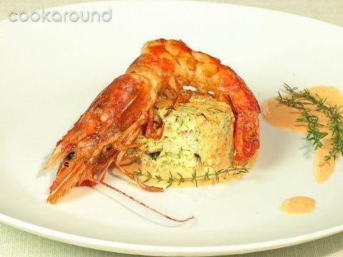 Tortino di zucchine con mousse di gamberi: Ricette di Cookaround | Cookaround