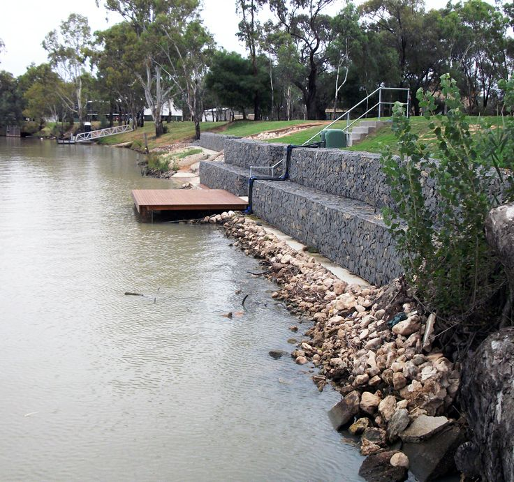 183 best lakeside landscapes images on pinterest for Retaining wall contractors adelaide