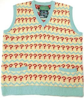Seventh Doctor Jumper - Official BBC Doctor Who 7th Doctor (Sylvester McCoy) Question Mark Tank Top Sweater by LOVARZI