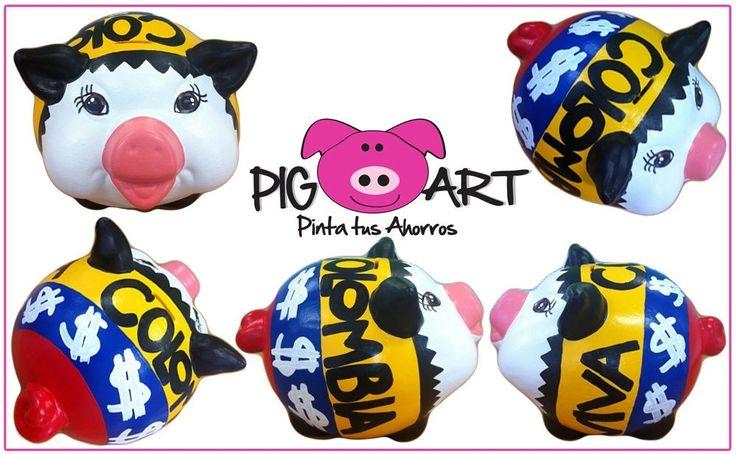 Nosotros ya tenemos la tricolor puesta!!! #VamosMiSelección #Fútbol  #Colombia #Ahorro #Money #Mundial #Brasil #Save #Piggy #Bank #Amarillo #Azul #Rojo