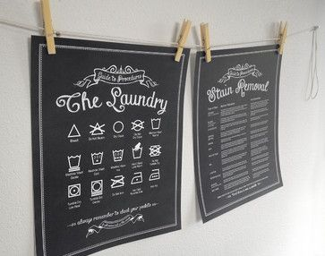 Hang cute art with these helpful laundering symbols and stain tricks so you always know how to get it right.
