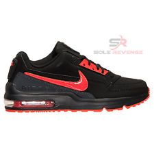 New Men's Nike Air Max LTD 3 Running Shoes Black/Bright Crimson/Red 687977-066