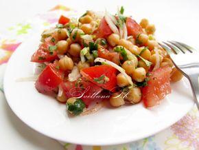 Салат с горохом нут и помидорами, рецепт с фото.