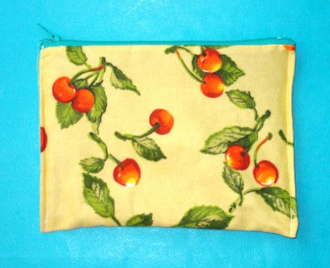 Sweet Cherries Rockabilly Zippered Clutch - Mookie Designs