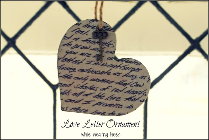 While Wearing Heels: Love Letter Ornament