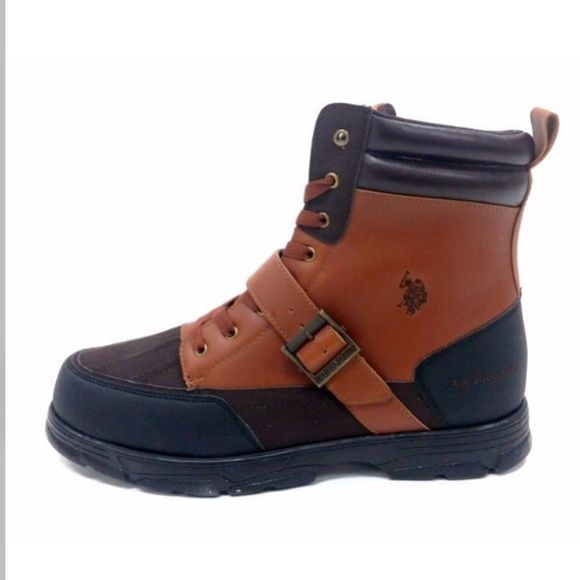 us polo assassin brown leather boots basically new only
