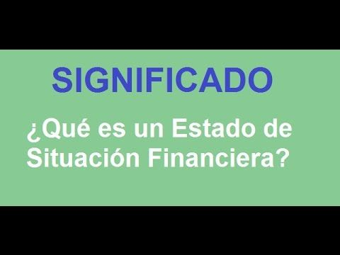 583. Estado de Situación Financiera... ¿Sabes su significado? -  COMPARTE https://www.youtube.com/watch?v=P7B1G4VFhEU