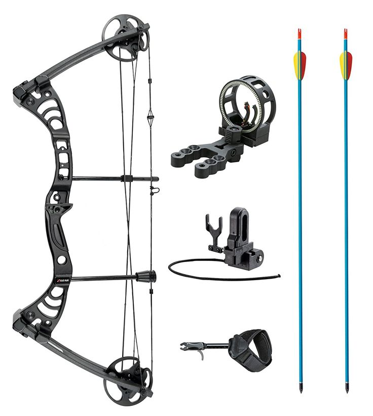 Leader Accessories Compound Bow 30-55lbs Archery Hunting Equipment with Max Speed 296fps (Black With Kit) $144.99 & FREE Shipping