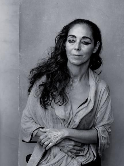 Shirin Neshat | photo by Annie Leibovitz for 2016 Pirelli Calendar  Iranian visual artist