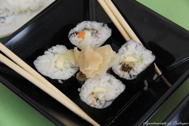 Sushi de ostras de la ría