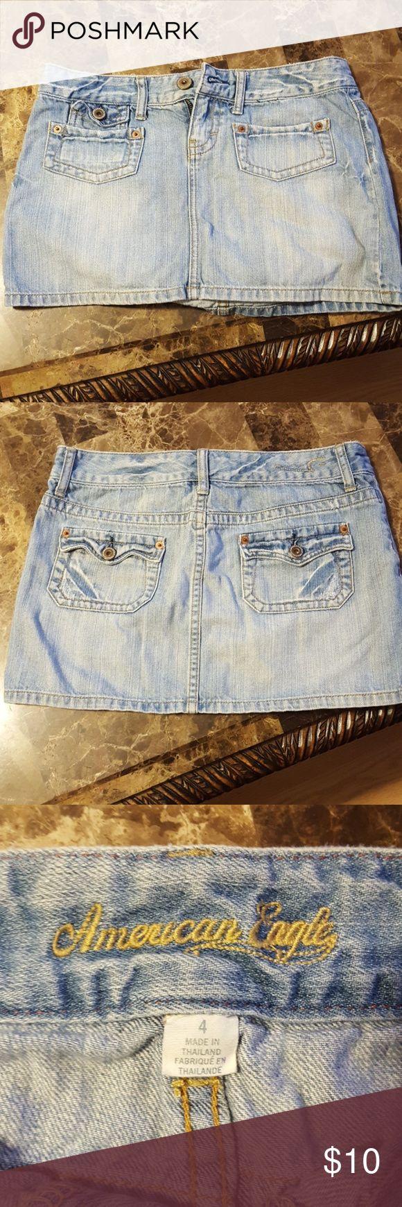 American Eagle Skirt Light wash skirt American Eagle Outfitters Skirts Midi