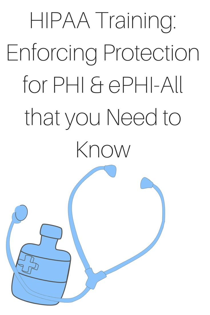 The Health Insurance Portability and Accountability Act #HIPAA required the Department of Health and Human Services (HHS) to develop standards for protecting the privacy of protected health information (PHI) and the security of electronic Personal Health Records (ePHI). http://www.onlinecompliancepanel.com/webinar/HIPAA-Training-Enforcing-Protection-for-PHI-ePHI-All-that-you-Need-to-Know-501236