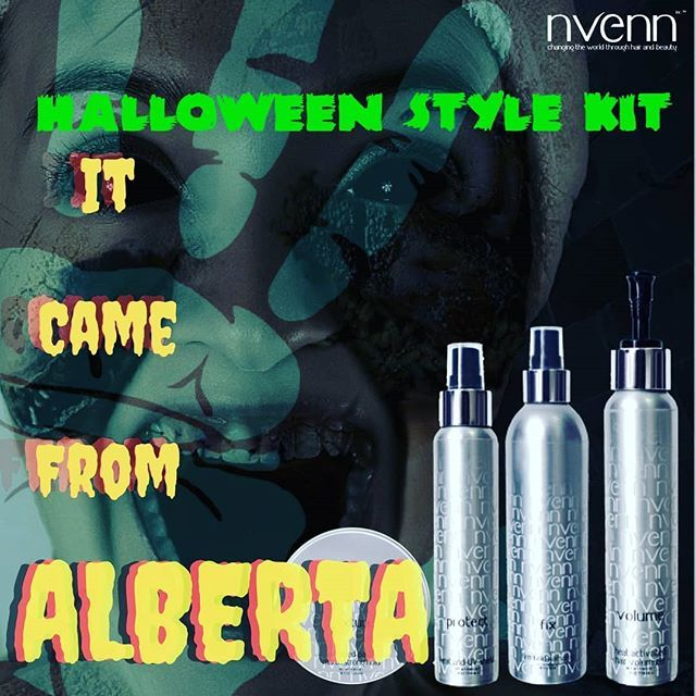 IT CAME FROM ALBERTA! https://goo.gl/2UDFYJ   starring BIG VOLUME and ALL NIGHT HOLD  #nvenn HALLOWEEN STYLE KIT has everything you need to craft the perfect Halloween hair and BEYOND!    #halloween #horror #retro #hair #scifi #retrohorro #yeghair #yychair #salonpro #bbloggers #dappereyevisuals #popart #design #digitaldesign #midnightmovie #midnight #itcamefromouterspace #itcamefromthesea