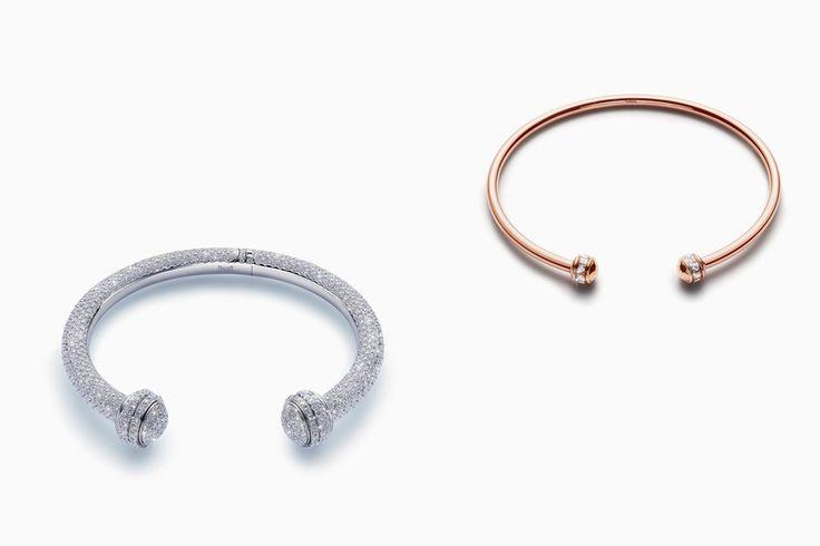 Браслеты из розового и белого золота с бриллиантами