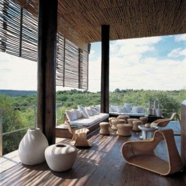 Moderne Terrassengestaltung – 100 Bilder und kreative Einfälle - moderne terrassen gestalten korbmöbel dekoration sitzecke