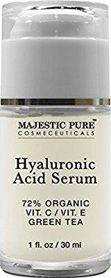 Hyaluronic Acid Serum from Majestic pure, 30ml - Anti Aging Moisturizer Makes the Skin Look Plumped and Lifted
