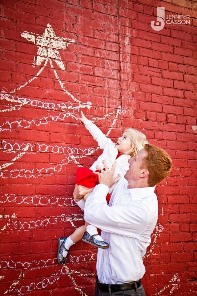 Urban Christmas card photo op
