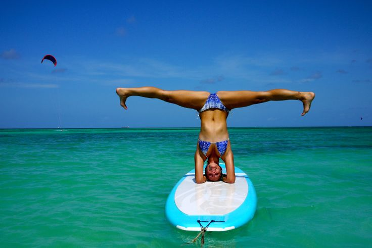 Sure...I can do this! NOT! Paddle Board Yoga