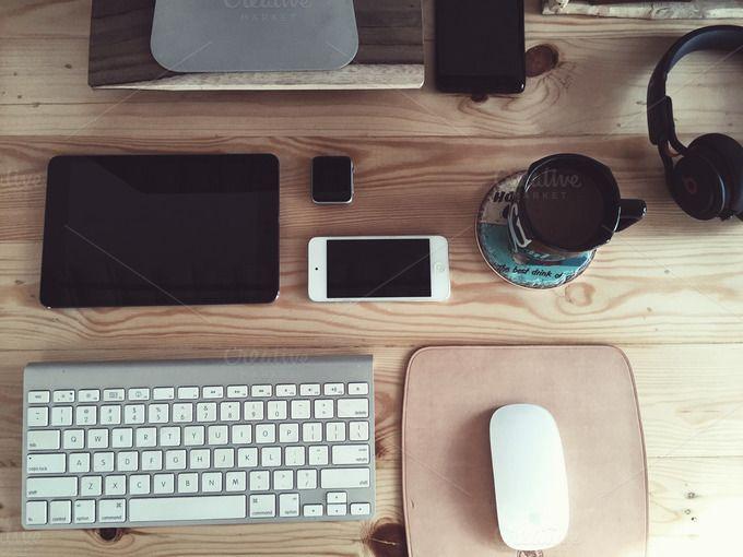 Essentials desk by Addthisrock Studio on @creativemarket
