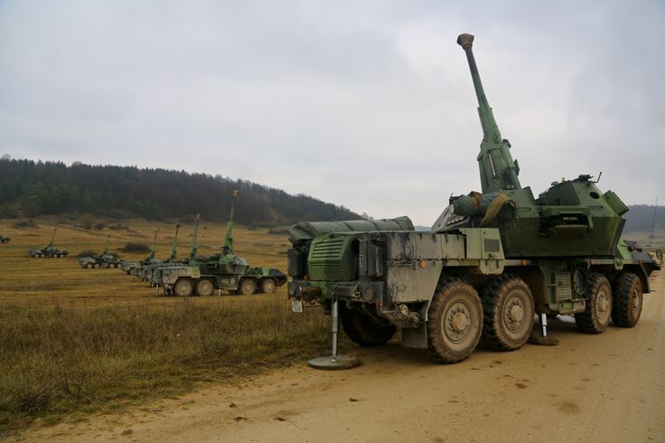 152 mm Self-Propelled Howitzer DANA Czech Army