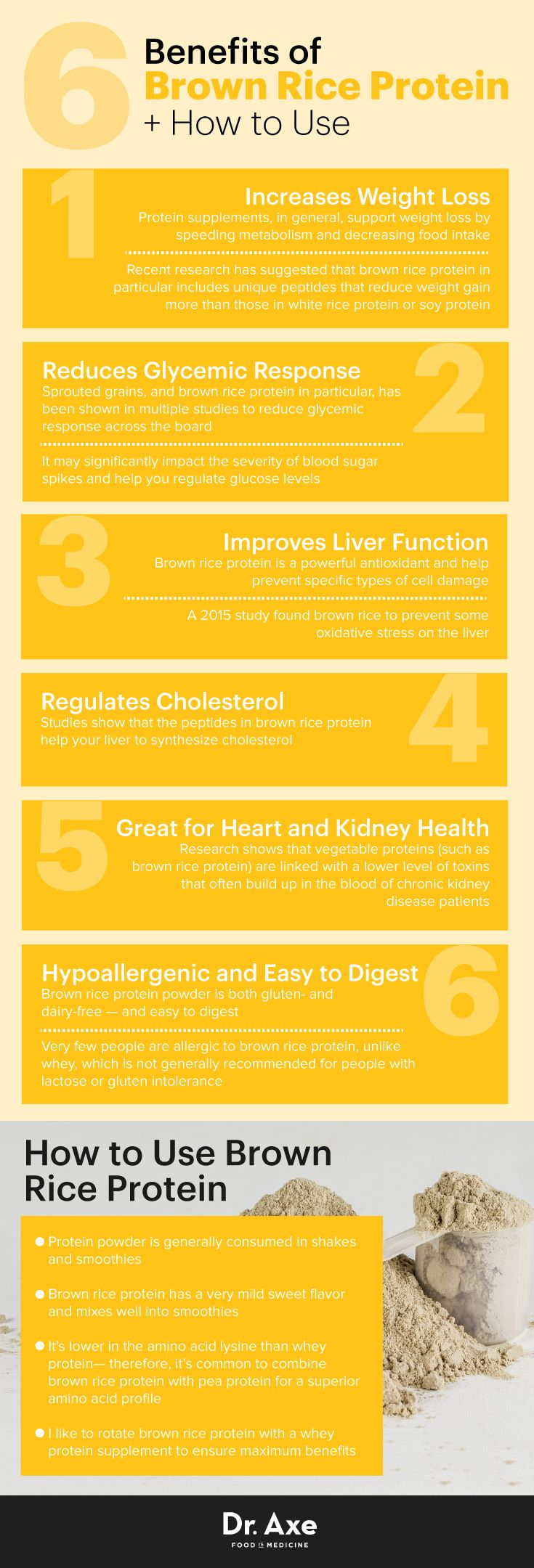Brown rice protein benefits - Dr. Axe http://www.draxe.com #health #holistic #natural