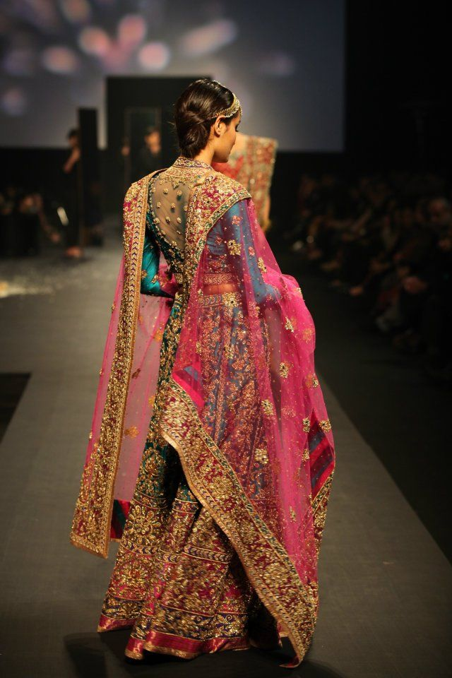 @ritukumarhq's Panchvastra Collection at @aamby_valley Bridal Fashion Week Sept, 2012; the Collection centers around five of the most important women in the Ancient Epic Mahabharata.